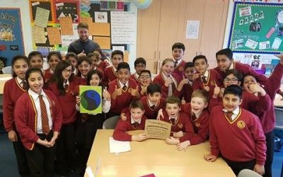 "Belgrave St. Bartholomew's Academy ""Go Bananas"" in Fairtrade workshops"